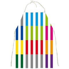 Color Bars Rainbow Green Blue Grey Red Pink Orange Yellow White Line Vertical Full Print Aprons by Alisyart