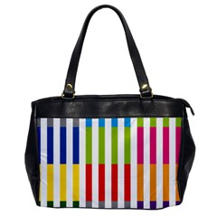 Color Bars Rainbow Green Blue Grey Red Pink Orange Yellow White Line Vertical Office Handbags by Alisyart