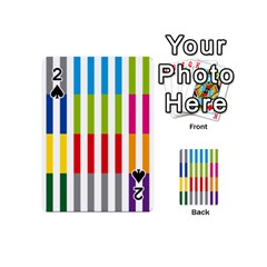 Color Bars Rainbow Green Blue Grey Red Pink Orange Yellow White Line Vertical Playing Cards 54 (mini)