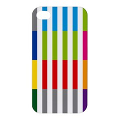 Color Bars Rainbow Green Blue Grey Red Pink Orange Yellow White Line Vertical Apple Iphone 4/4s Hardshell Case