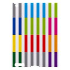 Color Bars Rainbow Green Blue Grey Red Pink Orange Yellow White Line Vertical Apple Ipad 3/4 Hardshell Case