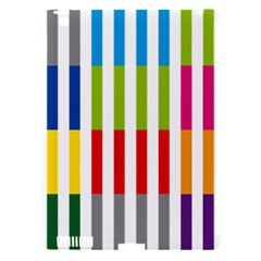Color Bars Rainbow Green Blue Grey Red Pink Orange Yellow White Line Vertical Apple Ipad 3/4 Hardshell Case (compatible With Smart Cover)