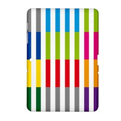 Color Bars Rainbow Green Blue Grey Red Pink Orange Yellow White Line Vertical Samsung Galaxy Tab 2 (10 1 ) P5100 Hardshell Case  by Alisyart