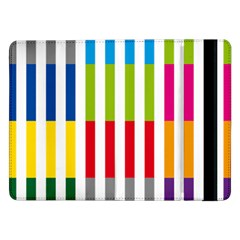 Color Bars Rainbow Green Blue Grey Red Pink Orange Yellow White Line Vertical Samsung Galaxy Tab Pro 12 2  Flip Case by Alisyart