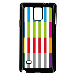 Color Bars Rainbow Green Blue Grey Red Pink Orange Yellow White Line Vertical Samsung Galaxy Note 4 Case (black) by Alisyart