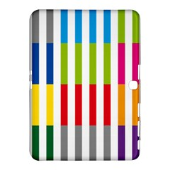 Color Bars Rainbow Green Blue Grey Red Pink Orange Yellow White Line Vertical Samsung Galaxy Tab 4 (10 1 ) Hardshell Case  by Alisyart