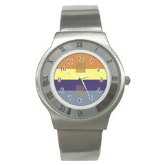 Color Therey Orange Yellow Purple Blue Stainless Steel Watch by Alisyart