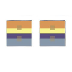 Color Therey Orange Yellow Purple Blue Cufflinks (square) by Alisyart