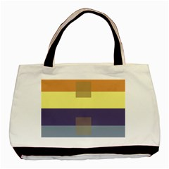 Color Therey Orange Yellow Purple Blue Basic Tote Bag by Alisyart