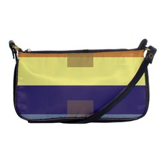 Color Therey Orange Yellow Purple Blue Shoulder Clutch Bags by Alisyart