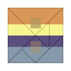 Color Therey Orange Yellow Purple Blue Acrylic Tangram Puzzle (6  X 6 )