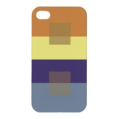 Color Therey Orange Yellow Purple Blue Apple Iphone 4/4s Premium Hardshell Case by Alisyart
