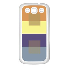 Color Therey Orange Yellow Purple Blue Samsung Galaxy S3 Back Case (white) by Alisyart