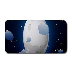 Cloud Moon Star Blue Sky Night Light Medium Bar Mats by Alisyart