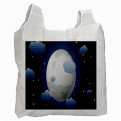 Cloud Moon Star Blue Sky Night Light Recycle Bag (one Side)