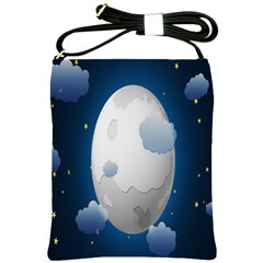 Cloud Moon Star Blue Sky Night Light Shoulder Sling Bags by Alisyart
