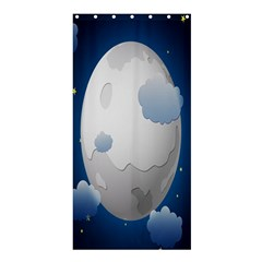 Cloud Moon Star Blue Sky Night Light Shower Curtain 36  X 72  (stall)  by Alisyart