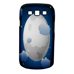 Cloud Moon Star Blue Sky Night Light Samsung Galaxy S Iii Classic Hardshell Case (pc+silicone)
