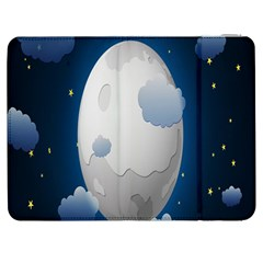 Cloud Moon Star Blue Sky Night Light Samsung Galaxy Tab 7  P1000 Flip Case