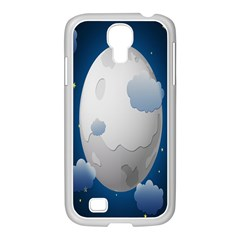 Cloud Moon Star Blue Sky Night Light Samsung Galaxy S4 I9500/ I9505 Case (white) by Alisyart