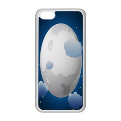 Cloud Moon Star Blue Sky Night Light Apple Iphone 5c Seamless Case (white) by Alisyart