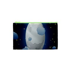 Cloud Moon Star Blue Sky Night Light Cosmetic Bag (xs) by Alisyart