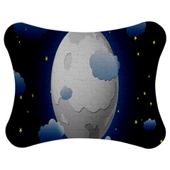 Cloud Moon Star Blue Sky Night Light Jigsaw Puzzle Photo Stand (bow) by Alisyart