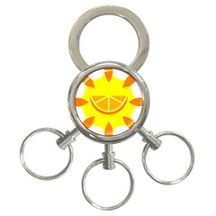 Citrus Cutie Request Orange Limes Yellow 3 Ring Key Chains by Alisyart