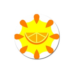 Citrus Cutie Request Orange Limes Yellow Magnet 3  (round) by Alisyart