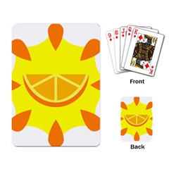 Citrus Cutie Request Orange Limes Yellow Playing Card by Alisyart