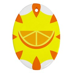 Citrus Cutie Request Orange Limes Yellow Oval Ornament (two Sides)
