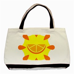 Citrus Cutie Request Orange Limes Yellow Basic Tote Bag (two Sides) by Alisyart