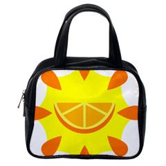 Citrus Cutie Request Orange Limes Yellow Classic Handbags (one Side)
