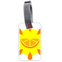 Citrus Cutie Request Orange Limes Yellow Luggage Tags (two Sides) by Alisyart