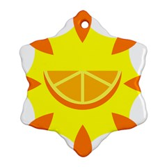 Citrus Cutie Request Orange Limes Yellow Ornament (snowflake) by Alisyart