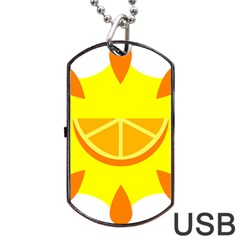 Citrus Cutie Request Orange Limes Yellow Dog Tag Usb Flash (two Sides) by Alisyart