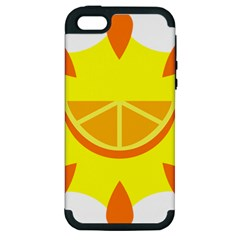 Citrus Cutie Request Orange Limes Yellow Apple Iphone 5 Hardshell Case (pc+silicone) by Alisyart