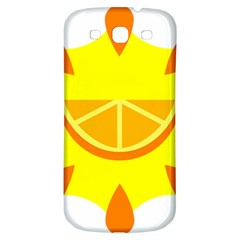 Citrus Cutie Request Orange Limes Yellow Samsung Galaxy S3 S Iii Classic Hardshell Back Case