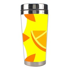 Citrus Cutie Request Orange Limes Yellow Stainless Steel Travel Tumblers by Alisyart