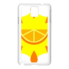 Citrus Cutie Request Orange Limes Yellow Samsung Galaxy Note 3 N9005 Case (white) by Alisyart