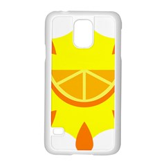 Citrus Cutie Request Orange Limes Yellow Samsung Galaxy S5 Case (white)