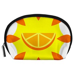 Citrus Cutie Request Orange Limes Yellow Accessory Pouches (large)  by Alisyart