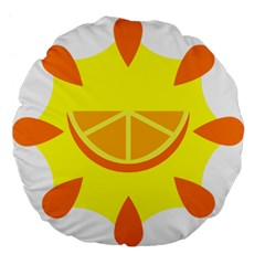 Citrus Cutie Request Orange Limes Yellow Large 18  Premium Flano Round Cushions by Alisyart