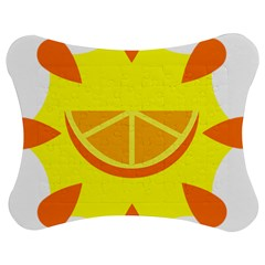Citrus Cutie Request Orange Limes Yellow Jigsaw Puzzle Photo Stand (bow) by Alisyart
