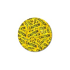 Caution Road Sign Cross Yellow Golf Ball Marker (4 Pack)