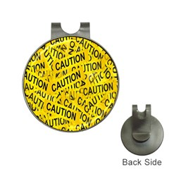 Caution Road Sign Cross Yellow Hat Clips With Golf Markers by Alisyart