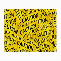 Caution Road Sign Cross Yellow Small Glasses Cloth by Alisyart