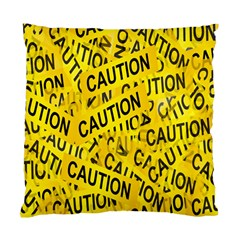 Caution Road Sign Cross Yellow Standard Cushion Case (two Sides) by Alisyart