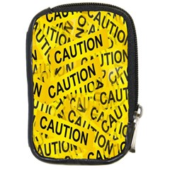 Caution Road Sign Cross Yellow Compact Camera Cases by Alisyart