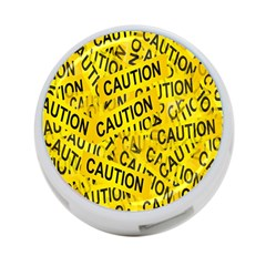 Caution Road Sign Cross Yellow 4 Port Usb Hub (one Side) by Alisyart